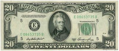 USA 20 Dollarnote mit Jackson